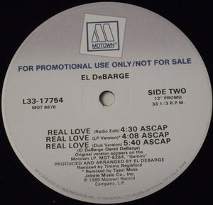 "El DeBarge - Real Love (12"", Promo) (NM or M-) - natural selection vinyl records"