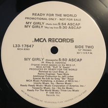 "Load image into Gallery viewer, Ready For The World - My Girly (12"", Promo) (NM or M-) - natural selection vinyl records"