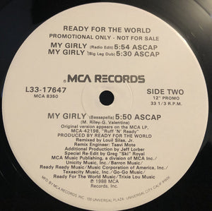 "Ready For The World - My Girly (12"", Promo) (NM or M-) - natural selection vinyl records"