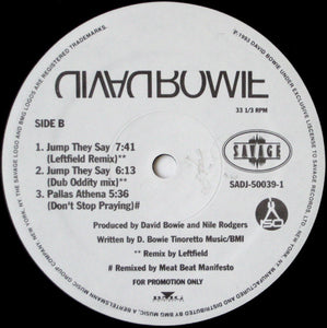 "David Bowie - Jump They Say (12"", Single, Promo) (VG+)"