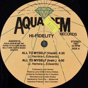 "Hi-Fidelity - All To Myself (12"", Single) (VG+) - natural selection vinyl records"