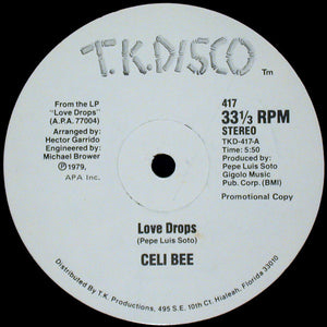 "Celi Bee - Love Drops (12"", Promo) (VG+) - natural selection vinyl records"