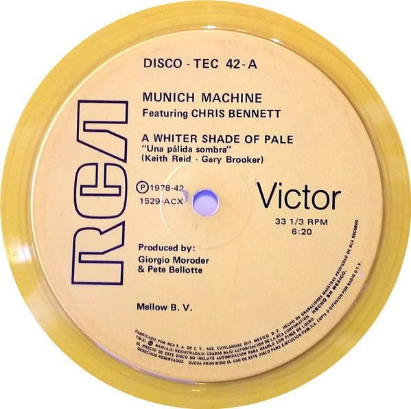 Munich Machine ,Featuring Chris Bennett - A White Shade Of Pale / In Love With Love (12