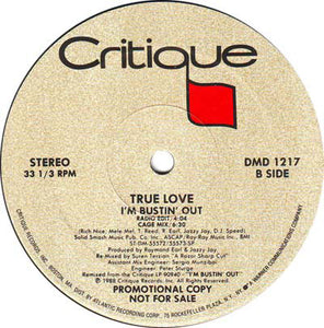 "True Love (2) - I'm Bustin' Out (12"", Promo) (VG+) - natural selection vinyl records"