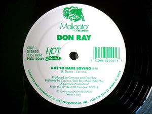 "Don Ray - Got To Have Loving / Standing In The Rain (12"") (VG+) - natural selection vinyl records"