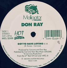 "Load image into Gallery viewer, Don Ray - Got To Have Loving / Standing In The Rain (12"") (VG+) - natural selection vinyl records"