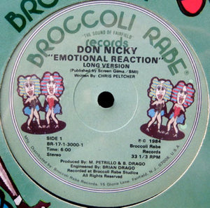 "Don Nicky - Emotional Reaction (12"") (VG+) - natural selection vinyl records"