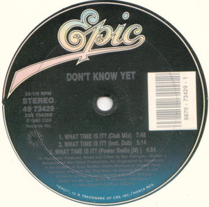 "Don't Know Yet - What Time Is It? (12"") (VG+) - natural selection vinyl records"