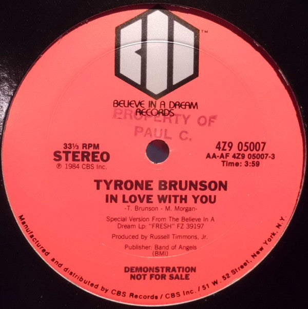 Tyrone Brunson - I'm In Love With You (12