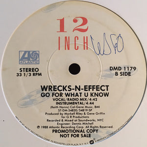 "Wrecks-N-Effect - Go For What U Know (12"", Promo) (NM or M-) - natural selection vinyl records"