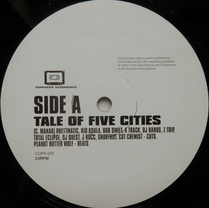 "Peanut Butter Wolf - Tale of Five Cities (12"") (VG+) - natural selection vinyl records"