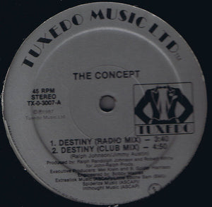 "The Concept - Destiny (12"") (VG) - natural selection vinyl records"
