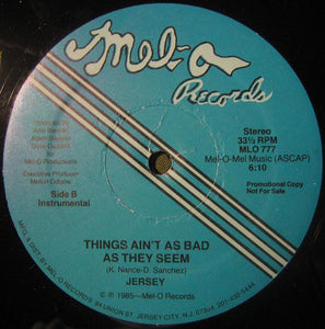 "Jersey (4) - Things Ain't As Bad As They Seem (12"", Promo) (NM or M-) - natural selection vinyl records"