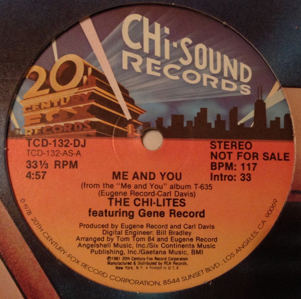 The Chi-Lites Featuring Eugene Record - Me And You (12