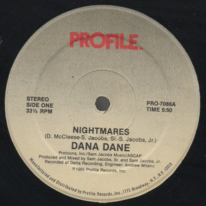 "Dana Dane - Nightmares (12"") (NM or M-) - natural selection vinyl records"