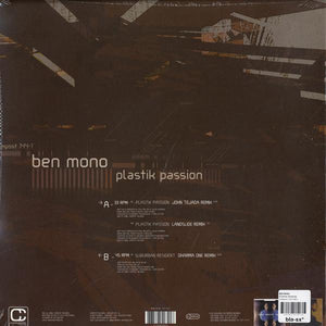"Ben Mono - Plastik Passion (12"") (VG+) - natural selection vinyl records"