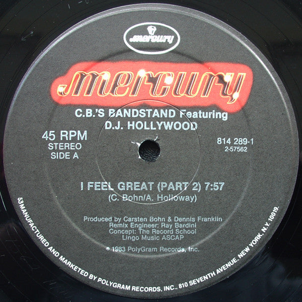 Carsten Bohn's Bandstand Featuring DJ Hollywood - I Feel Great (12