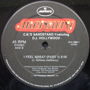 "Carsten Bohn's Bandstand Featuring DJ Hollywood - I Feel Great (12"") (VG+) - natural selection vinyl records"