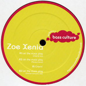 "ZoëXenia - Let The Music Play (12"", EP) (NM or M-) - natural selection vinyl records"