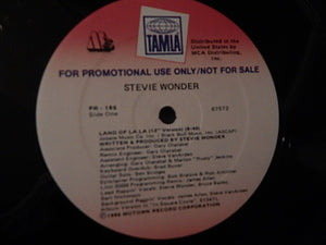 "Stevie Wonder - Land Of La La (12"", Promo) (VG+) - natural selection vinyl records"