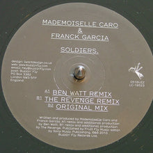 "Load image into Gallery viewer, Mlle Caro & Franck Garcia - Soldiers. (12"") (VG) - natural selection vinyl records"