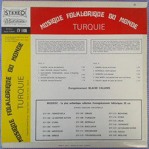 Blaise Calame - Turquie (LP, RE) (VG) - natural selection vinyl records