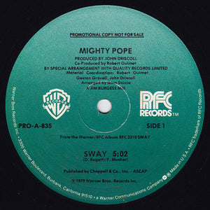 "Mighty Pope - Sway / New Orleans (12"", Promo) (VG+) - natural selection vinyl records"
