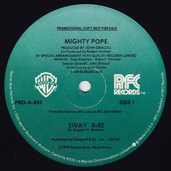 Mighty Pope - Sway / New Orleans (12