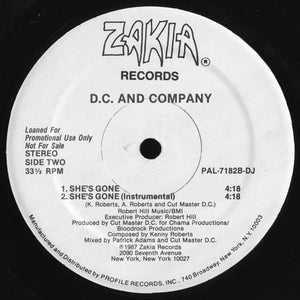 "D.C. And Company - The House Is Rockin' (12"", Promo) (NM or M-) - natural selection vinyl records"
