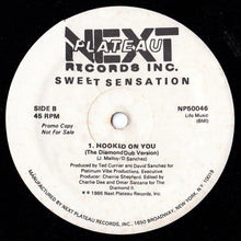"Load image into Gallery viewer, Sweet Sensation - Hooked On You (12"", Promo) (VG) - natural selection vinyl records"
