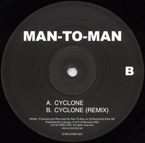 "Man-To-Man - Cyclone (12"") (VG+) - natural selection vinyl records"