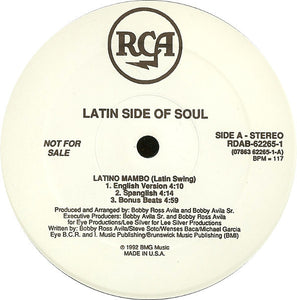 "Latin Side Of Soul - Latino Mambo (Latin Swing) (12"", Promo) (VG+) - natural selection vinyl records"