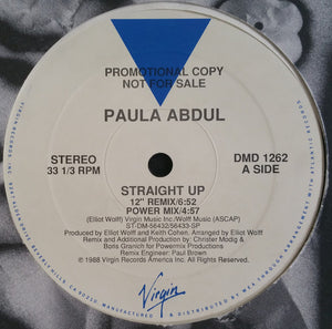 "Paula Abdul - Straight Up (12"", Promo) (VG+) - natural selection vinyl records"