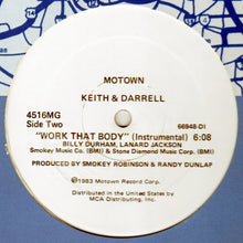 "Load image into Gallery viewer, Keith & Darrell - Work That Body (12"", Single, Promo) (VG) - natural selection vinyl records"
