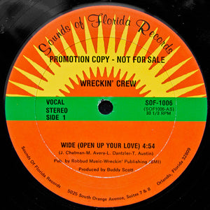 "Wreckin' Crew - Wide (Open Up Your Love) (12"", Promo) (VG+) - natural selection vinyl records"