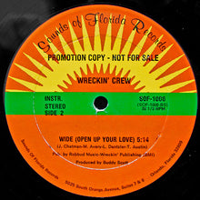 "Load image into Gallery viewer, Wreckin' Crew - Wide (Open Up Your Love) (12"", Promo) (VG+) - natural selection vinyl records"