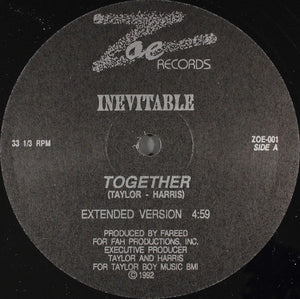"Inevitable - Together (12"") (VG+) - natural selection vinyl records"