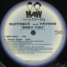 "Load image into Gallery viewer, Ruffneck Featuring Yavahn - Baby You (2x12"") (VG+) - natural selection vinyl records"