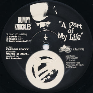 "Bumpy Knuckles - A Part Of My Life / Devious Minds (12"") (VG+) - natural selection vinyl records"
