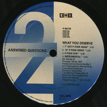"Load image into Gallery viewer, Answered Questions - What You Deserve (12"") (NM or M-) - natural selection vinyl records"