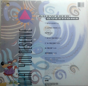 "Answered Questions - What You Deserve (12"") (NM or M-) - natural selection vinyl records"