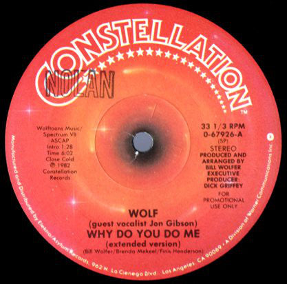 Bill Wolfer - Why Do You Do Me (12