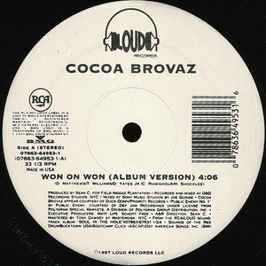 "Cocoa Brovaz - Won On Won (12"") (VG) - natural selection vinyl records"