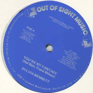 "Sylvia Bennett - You're My Fantasy (12"", Single, Promo) (NM or M-) - natural selection vinyl records"