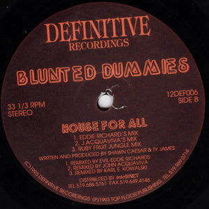 "Blunted Dummies - House For All (12"") (VG)"