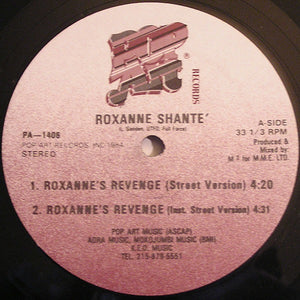 "Roxanne Shante'* - Roxanne's Revenge (12"") (VG) - natural selection vinyl records"