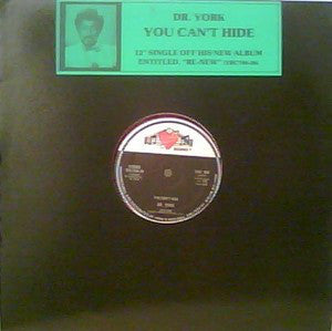"Dr. York - You Can't Hide (12"", Single, Red) (VG+) - natural selection vinyl records"