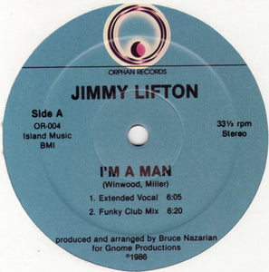 "Jimmy Lifton - I'm A Man (12"") (NM or M-) - natural selection vinyl records"