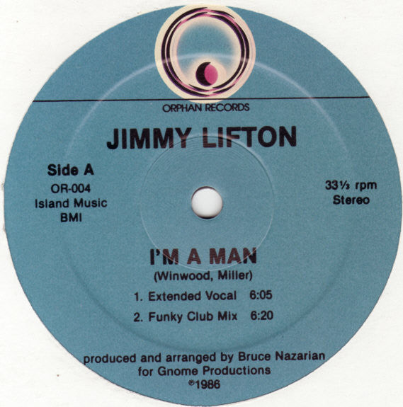 Jimmy Lifton - I'm A Man (12