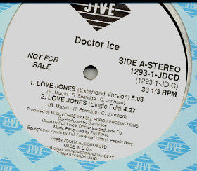 "Doctor Ice - Love Jones (12"", Promo) (M) - natural selection vinyl records"